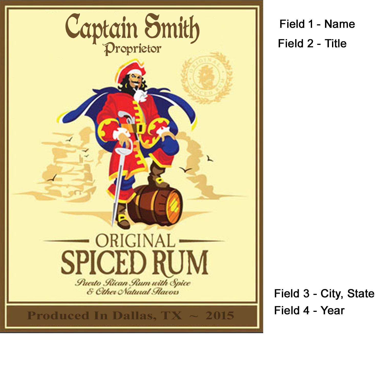 Captain Morgan Label Mini Oak Barrels