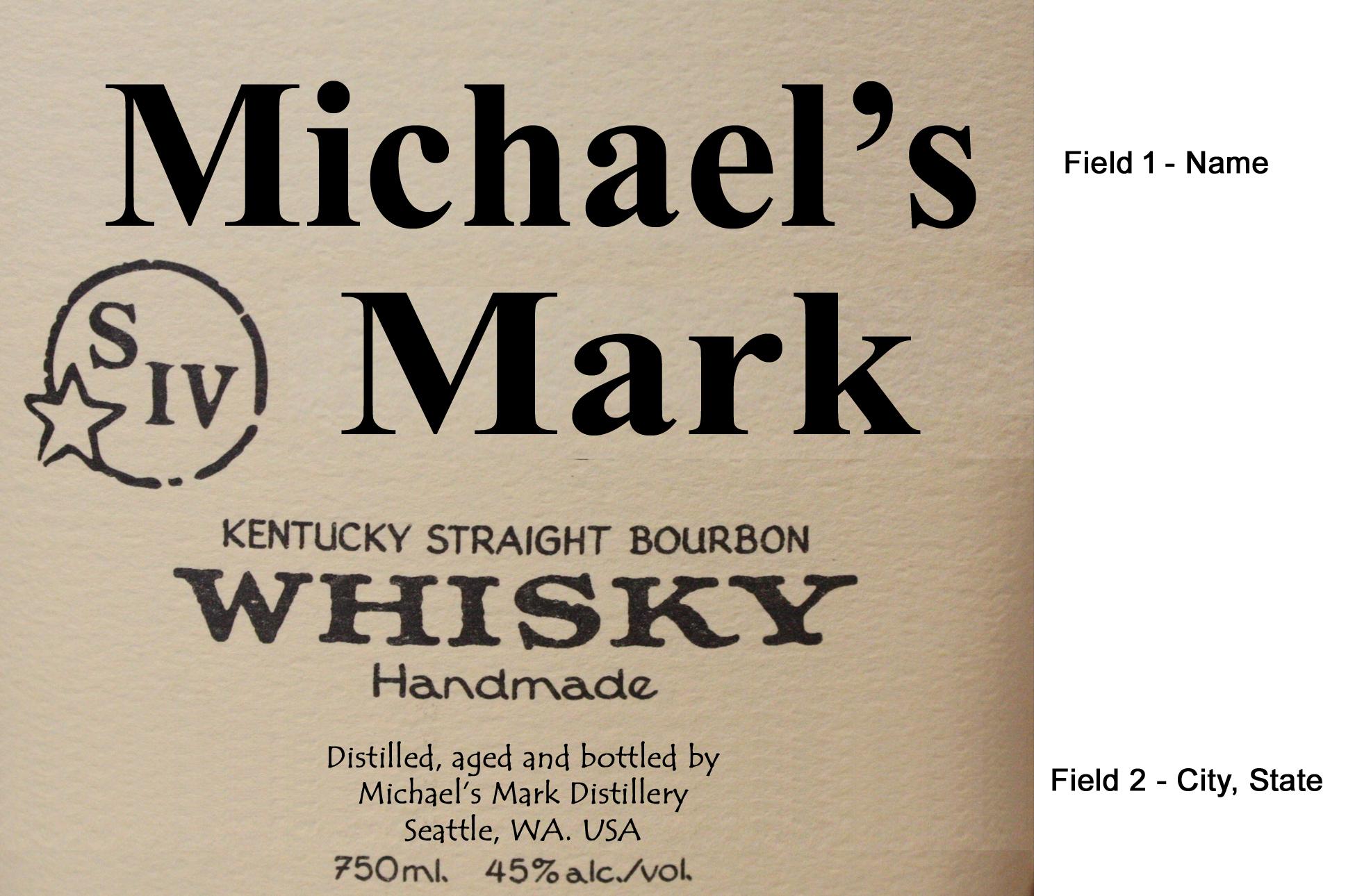 Makers Mark Label Mini Oak Barrels