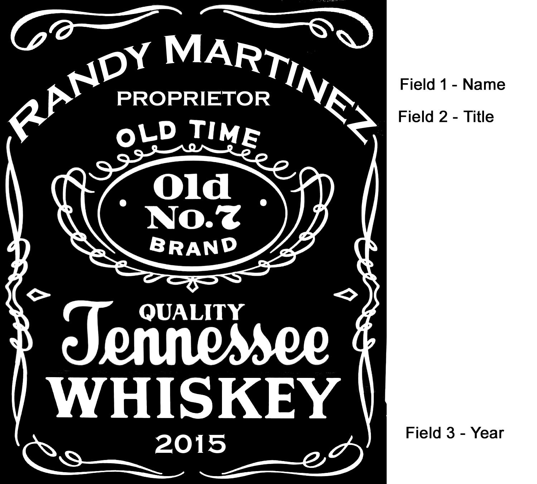 tennessee whiskey label mini oak barrels