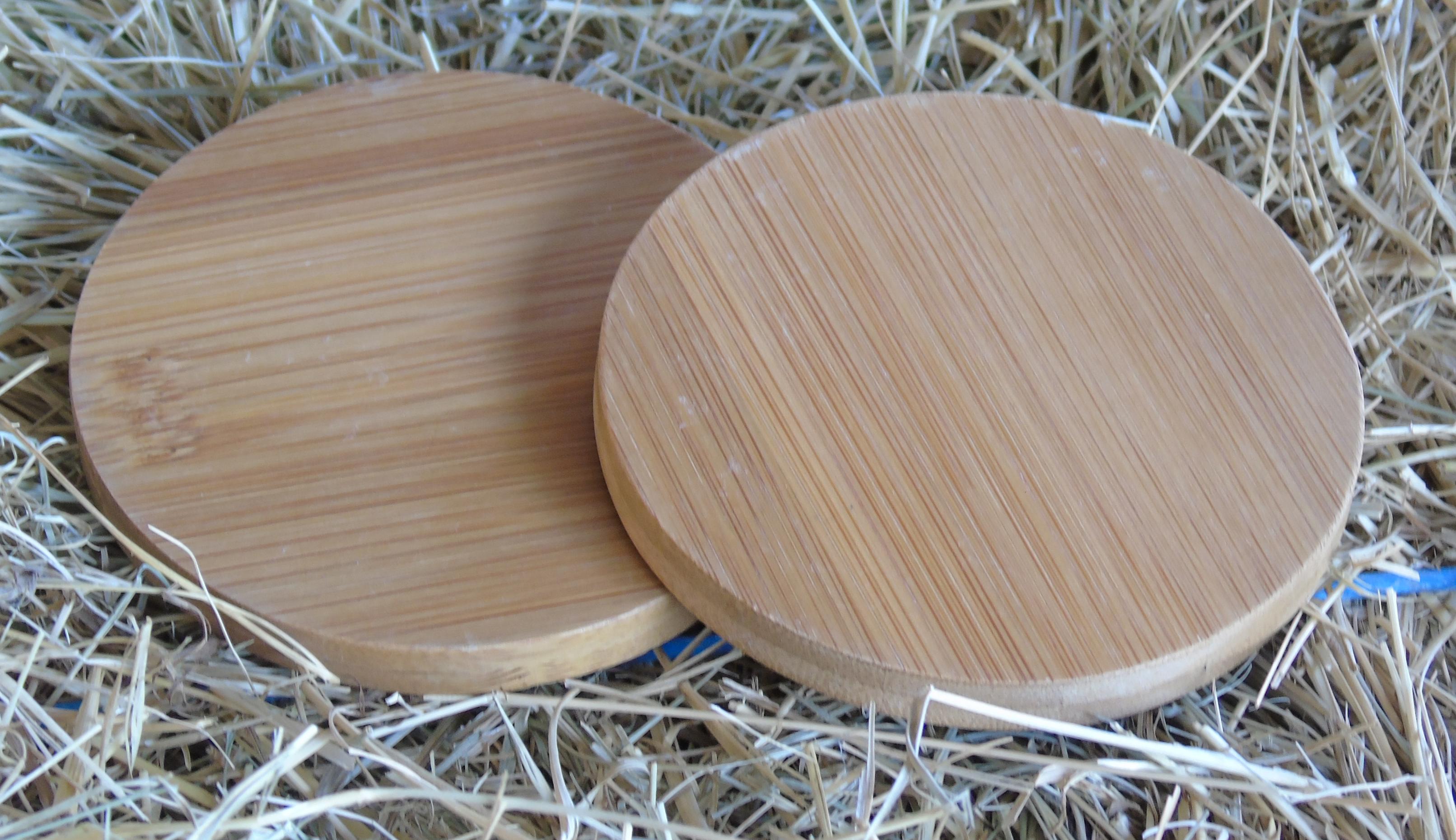 Bamboo wood coasters mini oak barrels for Best coasters for sweaty drinks